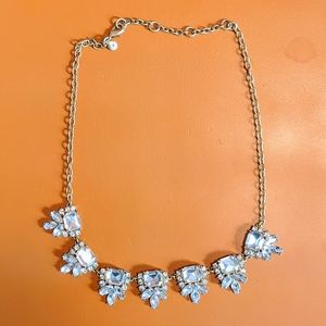 Classic J.Crew Clear Crystal Statement Necklace